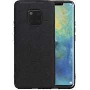 Zwart Hexagon Hard Case voor Huawei Mate 20 Pro