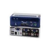 Netzwerkartikel.de 4-Port KVM Switch PS/2-USB-Aud io-USB2.0 Hub incl. Kabelset