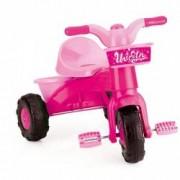 Tricicleta cu pedale pentru copii si cos - Unicorn Roz
