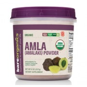 BareOrganics AMLA (Indian Gooseberry) POWDER (Raw Organic) (8oz) 227g