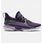 Under Armour Unisex UA Curry 7 'BAMAZING' Basketball Shoes Purple 9/10.5