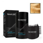 KeratinMD HAIR BUILDING FIBERS (Light Blonde) + FREE APPLICATOR COMB VALUE PACK