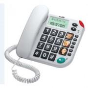 Maxcom KXT480 BB telefon przewodowy, biały Dostawa GRATIS. Nawet 400zł za opinię produktu!
