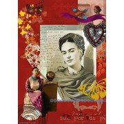 Puzzle Ravensburger - Portrait of Frida Kahlo, 1.000 piese (15412)
