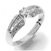 Prsten s diamanty, bílé zlato 386-1231 luxusní Gems Glorie