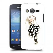 Husa Samsung Galaxy Core 4G LTE G386F Silicon Gel Tpu Model Women Draw V2