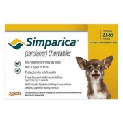 Simparica Flea & Tick Chewables For Dogs 2.8-5.5 Lbs (Yellow) 3 Pack