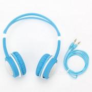 DM-2760 auriculares coloridos para la cabeza - azul + blanco