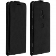 Avizar Funda Tapa Vertical Negra para Sony Xperia XZ3 Compact