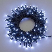 Luci Da Esterno Catena luminosa 70,4 m, 1000 Mini LED colore Bianco freddo, cavo Verde, non prolungabile
