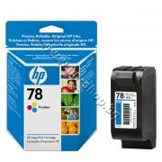 Касета HP 78, Tri-color 19 ml, p/n C6578D - Оригинален HP консуматив - касета с глава и мастило