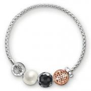 Thomas Sabo Armband schwarz-weiß KT0006-668-18-L20