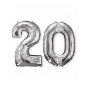 Vegaoo 2 ballonger som utgör siffran 20 - 66 cm One-Size