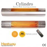 Luxway Terrassvärmare HeatWay Cylindro 2000W Silver
