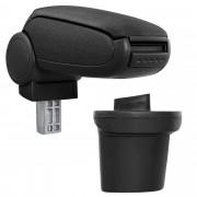 [pro.tec]® Naslon za ruke – specifičan za Nissan Juke - naslon za ruke za auto - sa pretincem - tkanina - crno