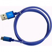 Gizmobitz Data Charging Cable Metal Fish Net for Micro-USB Cable - Blue