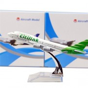 Indonesia Citilink Green Boeing 747 16cm Metal Airplane Models Child Birthday Gift Plane Models Home Decoration