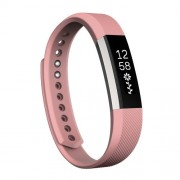 For Fitbit Alta Watch Oblique Texture Silicone Watchband Large Size Length: about 22cm(Pink)