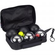 Get & Go jeu de boules set Luxe 11-delig zilver/zwart