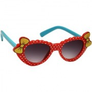 Redex Black And Red Color Stylish Cat-Eye kids Sunglasses