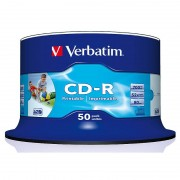Verbatim CD-R 700MB Super AZO WIDE-Printable, 50er Spindel