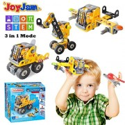 Joy-Jam Toys for 5-8 Year Old Boys, Stem Building Blocks Set, 3-in-1 Engineering Construction DIY Take Apart Puzzles, 6-7 Girls Boys Kids Bsq-1