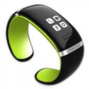 KICCY Trendy L12S OLED Bluetooth reloj pulsera inteligente - Verde + Negro