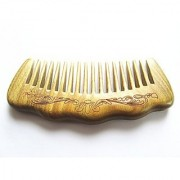 Myhsmooth Gs-by-mt Handmade Natural Green Sandalwood No Static Comb with Aromatic Scent for Detangling Curly Hair and Gift (4.9 Wide Tooth)
