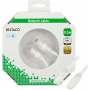 Deltaco Nätverkskabel Cat6 0,5m, vit