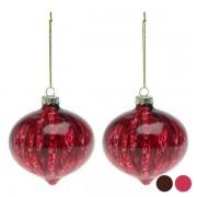 Globuri de Crăciun (2 pcs) 112490 - Culoare Maro