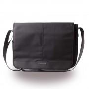 Cerruti 1881 Messenger Bag - луксозна дизайнерска чанта с презрамка за преносими компютри до 13 инча (черна)