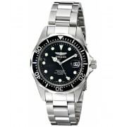 Invicta Watches Invicta Men's 17046 Pro Diver Analog Display Japanese Quartz Silver Watch BlackSilver