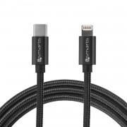 4smarts USB Type-C to Lightning Cable 1m. - USB-C кабел към Lightning за Apple устройства с Lightning и/или устройства с USB-C (черен)