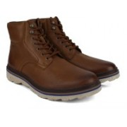 Clarks Frelan Top Brown WLined Lea Boots For Men(Brown)