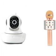Zemini Wifi CCTV Camera and WS 858 Microphone Karake With Bluetooth Speaker for LG OPTIMUS VU(Wifi CCTV Camera with night vision |WS 858 Microphone Karake With Bluetooth Speaker)
