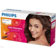 Philips HP8643/46 Hair Straightener + Dryer Combo Gift Set for Women Styling Kit