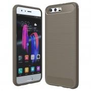 Huawei Honor 9 Brushed TPU Case - Carbon Fiber - Grey