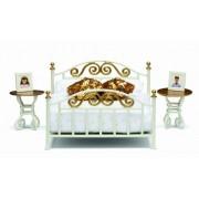 Lundby Smaland Brass Bed Set
