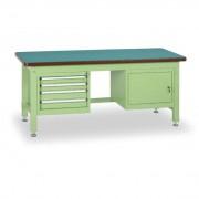 B2B Partner Stół warsztatowy z szafką i szufladowym kontenerem