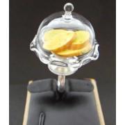 Anne's Garlic Bread Glass Dome Ring