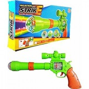 Jojoss Projection Musical Strike Electric Toy Gun for Kids (Multicolor)