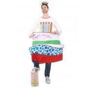 Vegaoo.es Disfraz tarta de cumpleaños hombre