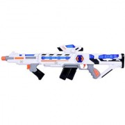 Space Wars Series Planet Of Toys Space 2 In 1 Extension Gun (With Led Lights And Sounds)