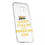 Husa de protectie Minion Keep Calm Samsung Galaxy S6 Edge rez. la uzura anti-alunecare Silicon 209