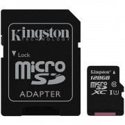 Micro SD Card, 128GB, KINGSTON Canvas Select, Class 10, 1xAdapter (SDCS/128GB)
