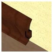 PBC605 - Plinta LINECO din PVC culoare cires maroniu pentru parchet - 60 mm