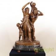 Figurina / Statueta decorativa design artistic de LUX din bronz C. M. Clodion SV-14434