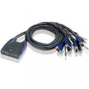 Aten Switch KVM VGA/Audio 4 porte USB, CS64US