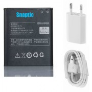 Snaptic Li Ion Polymer Replacement Battery BL213 for Lenovo Mobile Phones with USB Travel Charger