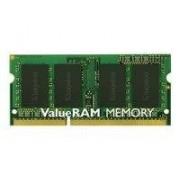 Kingston ValueRAM Mémoire 2 Go, type de mémoire mDDR3 SDRAM - SO DIMM 204 broches, vitesse 1333 MHz ( PC3-10600 ), temps de latence CL9, caractéristiquesun rang, mémoire sans tampon, tension 1.5 V, placage du connecteur Or, garantie limitée à vie